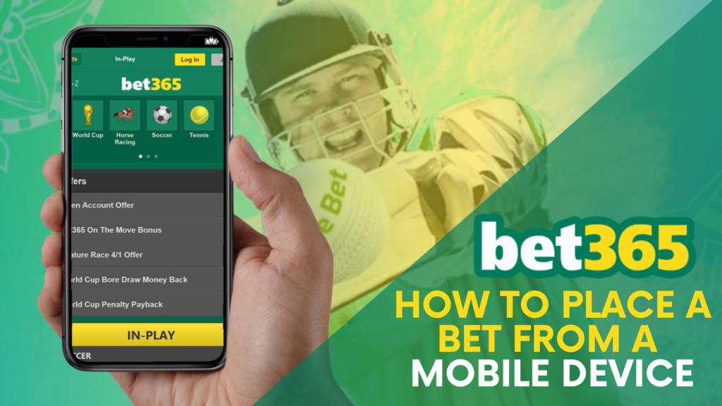 How to place a bet from a mobile device on bet365 India